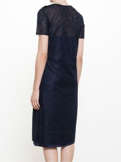Lace Overlay Dress Nina Ricci                                                                                                              синий цвет