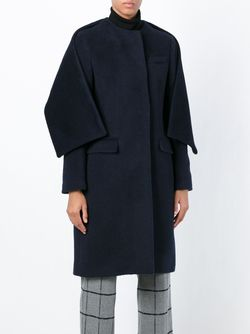 Scarf Detail Tailored Coat MSGM                                                                                                              синий цвет