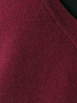 Свитер С V-Образной Горловиной В Рубчик T By Alexander Wang                                                                                                              красный цвет