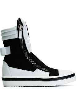 Colour Block Hi-Top Sneakers Giuseppe Zanotti Design                                                                                                              черный цвет