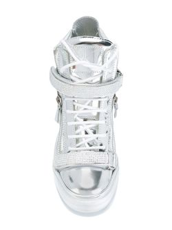 Hi-Top Sneakers Giuseppe Zanotti Design                                                                                                              серебристый цвет