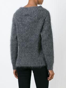 Свитер С Вырезом-Лодочкой Burberry                                                                                                              серый цвет
