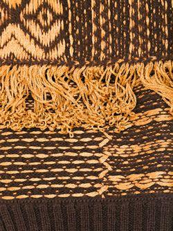 Шарф С Узором И Бахромой Maison Margiela                                                                                                              коричневый цвет