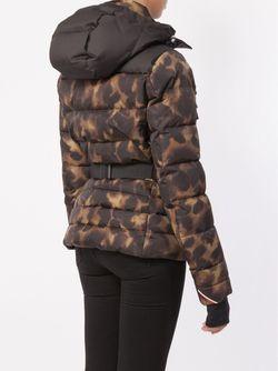 Леопардовый Пуховик С Капюшоном Moncler Grenoble                                                                                                              чёрный цвет