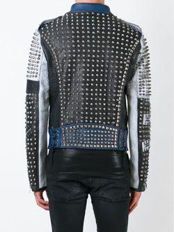 Байкерская Куртка С Панельным Дизайном Diesel Black Gold                                                                                                              синий цвет