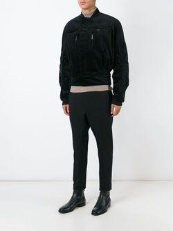 Вельветовая Куртка-Бомбер Haider Ackermann                                                                                                              чёрный цвет