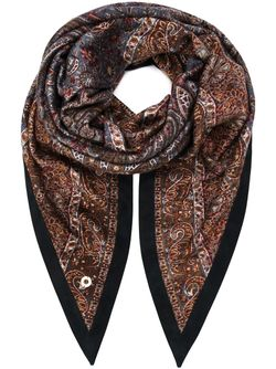 Arabesque Print Scarf Loro Piana                                                                                                              синий цвет