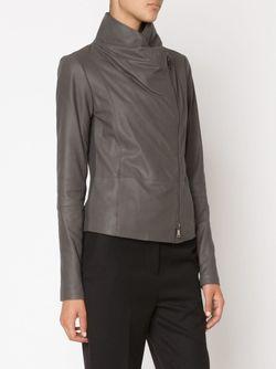Куртка Со Смещенной Застежкой На Молнии Vince                                                                                                              коричневый цвет
