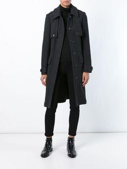 Пальто С Поясом Burberry Brit                                                                                                              серый цвет