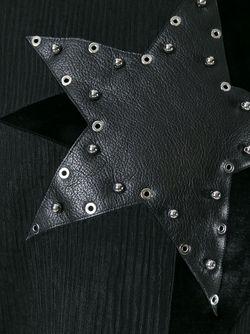 Свитер С Аппликацией Звезды Anthony Vaccarello                                                                                                              черный цвет