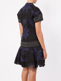 Pleated Knit Dress Sacai                                                                                                              синий цвет