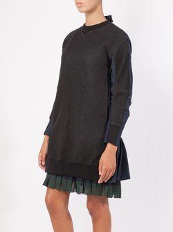 Shirt Back Sweatshirt Sacai                                                                                                              черный цвет