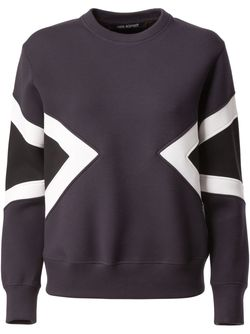 Colour Block Sweatshirt Neil Barrett                                                                                                              чёрный цвет