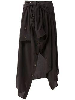 Юбка В Виде Рубашки Faith Connexion                                                                                                              чёрный цвет