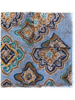 Шарф С Принтом Kiton                                                                                                              синий цвет