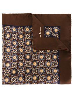 Нагрудный Платок С Геометрическим Узором Kiton                                                                                                              коричневый цвет