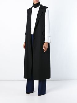 Long Sleeveless Coat MSGM                                                                                                              черный цвет