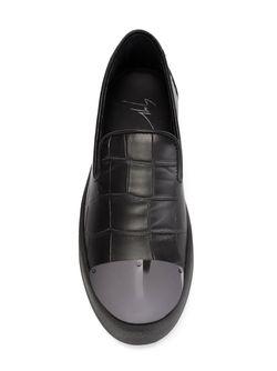 Кеды Слип-Он С Тисненым Узором Giuseppe Zanotti Design                                                                                                              черный цвет