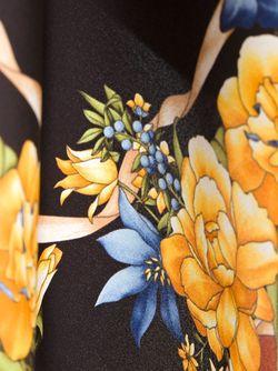 Нагрудный Платок С Цветочным Принтом Kiton                                                                                                              коричневый цвет
