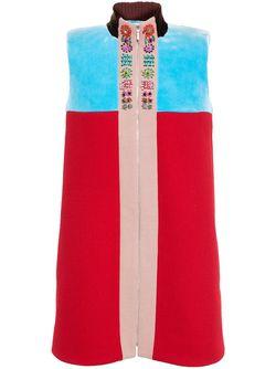 Платье Без Рукавов С Застежкой-Молнией Delpozo                                                                                                              красный цвет