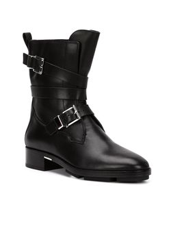 Байкерские Ботинки С Пряжками Alexander Wang                                                                                                              черный цвет