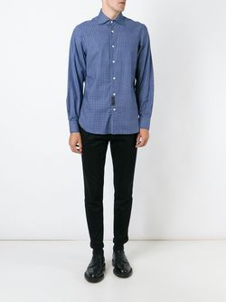 Printed Shirt MP MASSIMO PIOMBO                                                                                                              синий цвет