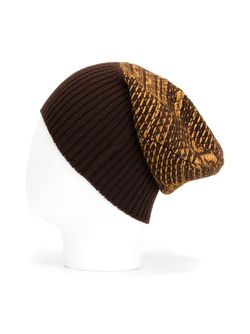 Двухцветная Трикотажная Шапка Maison Margiela                                                                                                              коричневый цвет