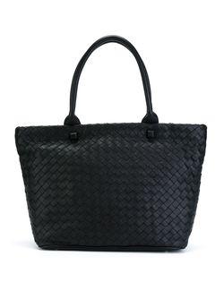 Плетеная Сумка-Тоут DKNY                                                                                                              чёрный цвет