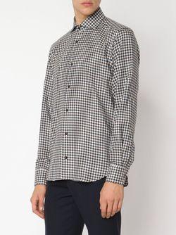 Рубашка В Клетку Гингем MAURIZIO BALDASSARI                                                                                                              коричневый цвет