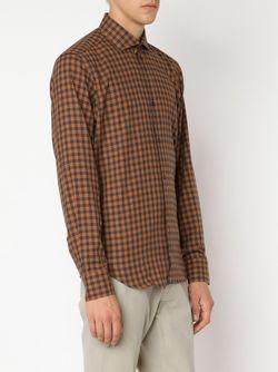 Рубашка В Клетку MAURIZIO BALDASSARI                                                                                                              коричневый цвет