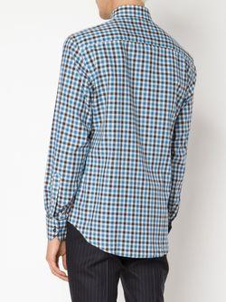 Рубашка В Клетку MAURIZIO BALDASSARI                                                                                                              синий цвет