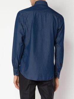 Джинсовая Рубашка MAURIZIO BALDASSARI                                                                                                              синий цвет
