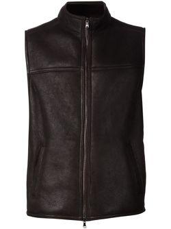 High Collar Zip Vest MAURIZIO BALDASSARI                                                                                                              коричневый цвет
