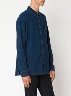 Рубашка Dobby ALEX MILL                                                                                                              синий цвет