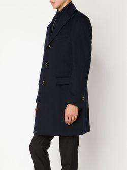 Пальто С Вставкой На Молнии Identity Corneliani                                                                                                              черный цвет