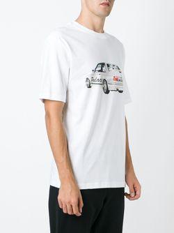 Футболка С Принтом Машины PALACE                                                                                                              белый цвет