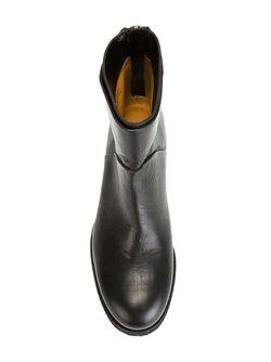 Ботинки По Щиколотку На Молнии Roberto Del Carlo                                                                                                              черный цвет