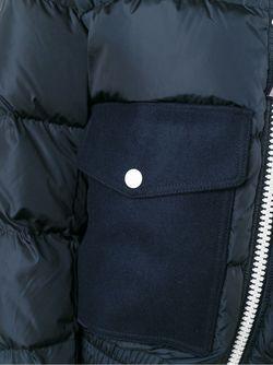 Классический Пуховик MONCLER X AMI                                                                                                              синий цвет