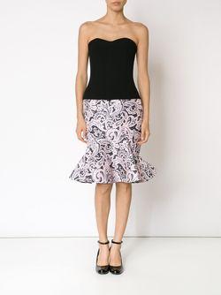 Платье Без Бретелек С Расклешенным Подолом Mary Katrantzou                                                                                                              чёрный цвет