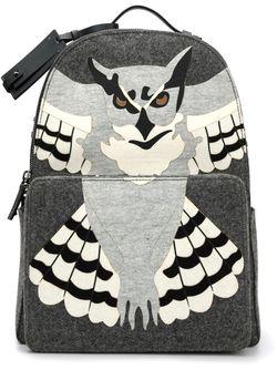 Рюкзак С Аппликацией Совы Valentino Garavani                                                                                                              серый цвет