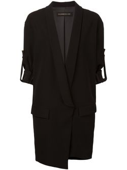 Shawl Lapel Long Jacket Alexandre Vauthier                                                                                                              черный цвет
