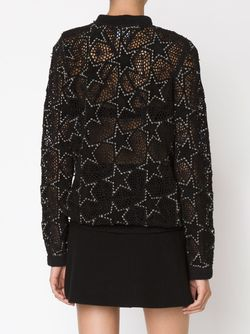 Embroidered Star Patch Sweater Anthony Vaccarello                                                                                                              чёрный цвет