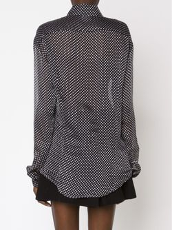 Blurred Dot Print Sheer Shirt Anthony Vaccarello                                                                                                              черный цвет