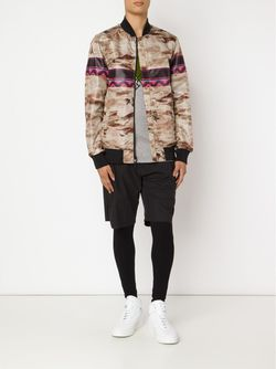 Куртка-Бомбер С Принтом Yoshio Kubo                                                                                                              коричневый цвет