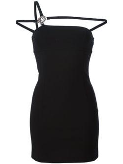 Мини-Платье С Лямками В Стиле Портупеи Versus                                                                                                              черный цвет