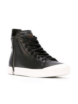 Hi-Top Lace-Up Sneakers Diesel                                                                                                              чёрный цвет