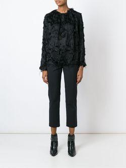 Блузка С Бахромой MSGM                                                                                                              черный цвет