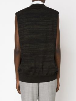 V Neck Striped Vest Bouchra Jarrar                                                                                                              чёрный цвет