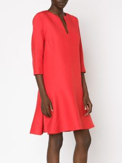 Three-Quarter Sleeve Flared Dress Giambattista Valli                                                                                                              красный цвет