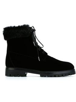 Ботинки На Шнуровке Aquazzura                                                                                                              чёрный цвет